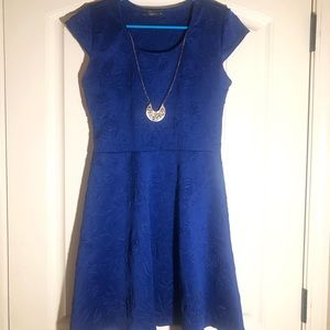Blue dress with necklace